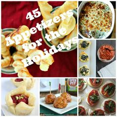 45 Appetizers for the Holidays--a wonderful collection of appetizers for all taste buds!