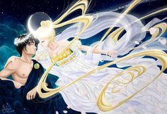 Sailor Moon. Endymion and the goddess of the Moon by Kanochka.deviantart.com on…