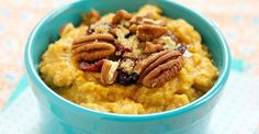 Pumpkin and oats combine for a filling breakfast #healthy #superfood #recipes http://greatist.com/health/easy-superfood-healthy-recipes