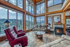 Ski Ridge Timber Frame Design – Streamline Design Kitchen Dining, Dining Room, Wrap Around Deck, Open Concept Kitchen, Home Builders, Great Rooms, Skiing, Loft, Windows