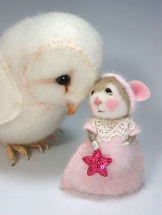 PDF CLASS Needle Felted Animal Dressed Mouse & Bunny by barby303