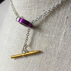 Clasps for necklaces and bracelets are med with a large 'bead' from a knitting needle (size 15 or 17) and the tip of a smaller needle (size 3-6)!