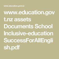 www.nz assets Documents Ministry Investing-in-Educational-Success Teacher-led-Innovation-Fund… Education Policy, Kids Education, Special Education, Cultural Competence, Inclusive Education, Financial Information, Document, Ministry, Innovation