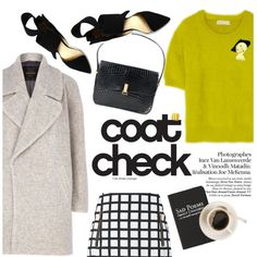 coat check by punnky on Polyvore featuring MICHAEL Michael Kors, River Island, Fashion Union and Moleskine