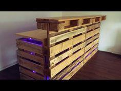DIY pallets bar / Paletten-Bar / palettes bar - YouTube
