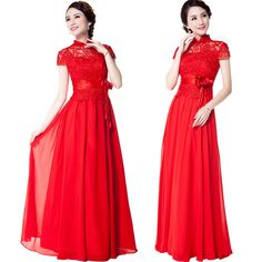 2015 Vintage design short sleeve long bride cheongsam red bridal formal dress chinese style wedding dress -inCheongsams from Novelty & Special Use on Aliexpress.com | Alibaba Group
