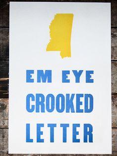 Em Eye Crooked Letter