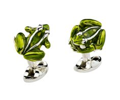 Deakin & Francis Silver Frog Cufflinks