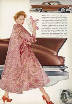 A fabulously elegant pink ensemble from 1956.