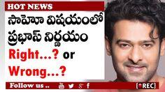 prabhas craze in bollywood media I prabhas fans tension about sahoo  mov...