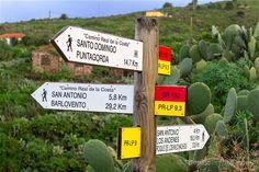 La señalización de los senderos de La Palma