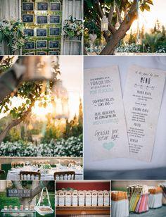 Detalles de boda | Wedding details. #boda #inspiración #decoracion #wedding #details #outdoors #seatingplan