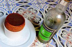 Soufflé au chocolat et glace #Chartreuse verte