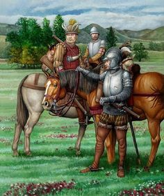 Spanish light cavalry of the expedition commanded by Pedro de Gamboa that went into Hungary in 1529 , by Ángel García Pinto