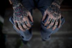 Knuckle tattoos HURT HEAL