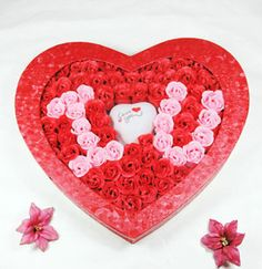 100 Rose Soap Flowers Red I Love You. For Only $69.99
