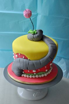 """Dr. Seuss Cake - Inspired by the book, """"Horton Hears a Who""""  Oh hell yeah. I'm making this ASAP!!!"""