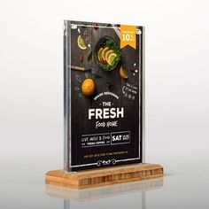 A double-sided POS retail frame or menu holder with magnetic acrylic panels on a solid wood bamboo base panel. Perfect for the display of notices, customer information, menus or printed brand inserts on retail counters or reception desks. #Architecture #Business #Design #CNC #Retail #Commercial #Lecterns #Manafacturer #Creative #Display #Shop #Shopping #Product #Innovation #College #School #University #Office #Work #Bespoke #Acrylic #PointOfSale #DIY #Finance Clear Picture Frames, Photo Picture Frames, Retail Counter, Coffee Music, Menu Holders, Acrylic Panels, Clear Perspex, Frame Display, Home Food