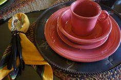 Fiesta Ware Tablescape Pine Creek Style