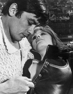 Alain Delon and Marianne Faithfull • The Girl on a Motorcycle