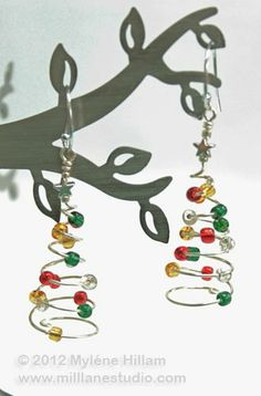 christmas earring designs - Google Search