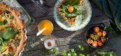 Pai med sopp, spinat og vårløk