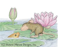 """Amanda from House-Mouse Designs® featured on the The Daily Squeek® for July 8th, 2013. Click on the image to see it on a bunch of really """"Mice"""" products."""