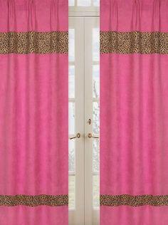 Cheetah Girl Pink and Brown Window Treatment Panels by Sweet Jojo Designs - Set of 2 Sweet Jojo Designs,http://www.amazon.com/dp/B002905T8C/ref=cm_sw_r_pi_dp_mcdltb0S78EC24V3