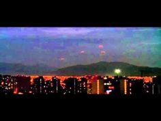 Flotilla de 16 OVNIS sobre el cielo de Santiago de Chile