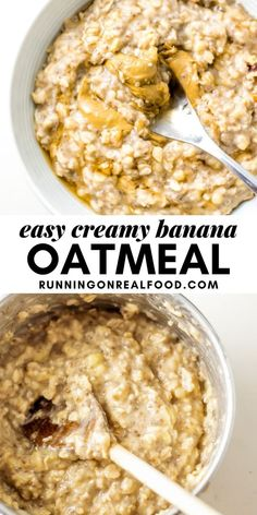 15 reviews · 12 minutes · Vegan Gluten free · Serves 1 · This banana oatmeal recipe is easy to make in 10 minutes and tastes amazing! Banana Oatmeal Recipe, Vegan Oatmeal, Oatmeal Recipes, Banana Recipes, Sweets Recipes, Brunch Recipes, Real Food Recipes, Yummy Food, Desserts