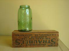 Ball mason jar, apple green shoulder seal, 1900s. #heritagecollection