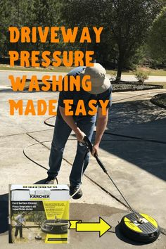 We Found This Handy Attachment For The Pressure Washer To Make The Job Much Easier And Faster. Start Creating Better Curb Appeal To Your Home This Weekend By Pressure Washing The Outside Along With 9 More Tips We Are Shaing For Curb Appeal. Household Cleaning Tips, Cleaning Hacks, Petunia Hanging Baskets, Southern Front Porches, Decorating With Christmas Lights, Outdoor Light Fixtures, House With Porch, Diy Home Improvement, Outdoor Living