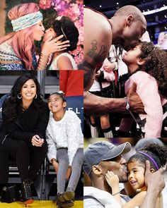 Kobe Bryant Family, Kobe Bryant 24, Kobe Bryant Iphone Wallpaper, Kobi Bryant, Daddy Daughter Photos, Kobe Bryant Daughters, Kobe Bryant Pictures, Lord Shiva Hd Images, Vanessa Bryant