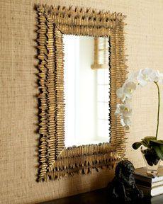 Gold Frayed-Edge Mirror