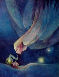 eternalboundlessness:      Blue nocturnal by ~neshad    Healing you with astral projections