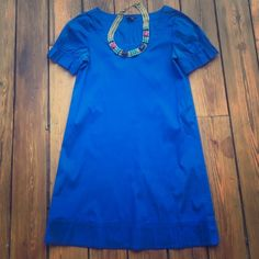 Bright Royal Blue Theory Dress Bright Royal Blue Theory Shift Dress! Ruffled on the sleeves! Absolutely perfect for work! Very very flattering for every body type! Only worn twice! Theory Dresses
