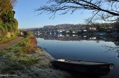 Lerryn, Cornwall on a frosty winter morning