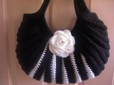 Crochet black and white fat bottom