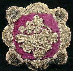 Iroquois beaded purple Pincushion, Niagara tradition, 19th century.