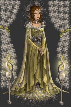The Golden Queen ~ by Kytheira ~ created using the LotR Hobbit doll maker | DollDivine.com