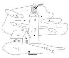Lighthouse intarsia