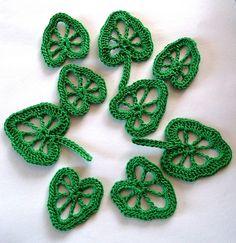 crochet leaves | crochet leave appliques