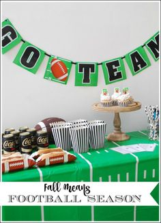 It is Fall and that means football season. See our ideas to host an easy pre-game party here! #notsofastmom #ad