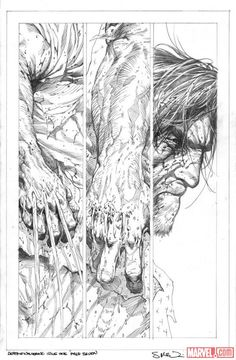 Death of Wolverine #1 pencils by Steve McNiven