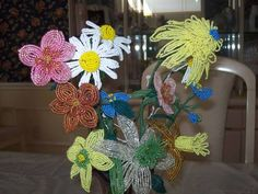 french beaded flowers - JEWELRY AND TRINKETS