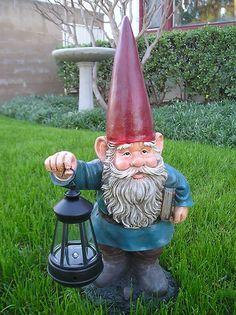 GARDEN STATUE GNOME, GNOME WITH SOLAR LIGHT , GNOME FIGURINE