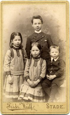CDV Portrait of young siblings - Germany - c.1885 by Patrick Bradley 70, via Flickr