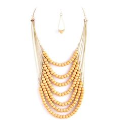 Lace Beads Necklace & earrings set