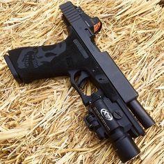 Custom Glock 21 with Burris rmr and Surefire X400