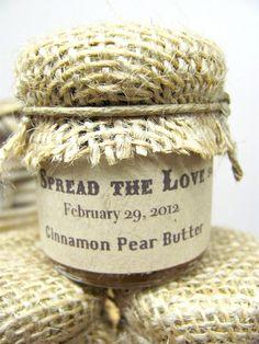 Custom Wedding Favor Farm Wedding Jam Favors by SweetCarolineJams, $3.00